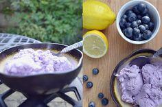 Blueberry Coconut Ice Cream (vegan)