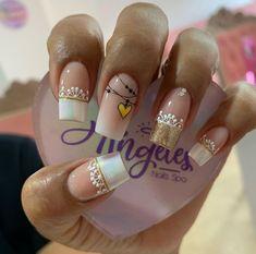 Classy Nails, Stylish Nails, Simple Nails, Luv Nails, Pink Nails, Acryl Nails, Gel Nail Art Designs, Beautiful Nail Designs, Cute Acrylic Nails