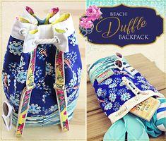 Beach Duffle Backpack   Sew4Home