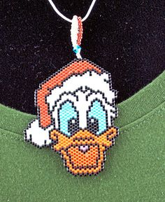Christmas Duck Necklace
