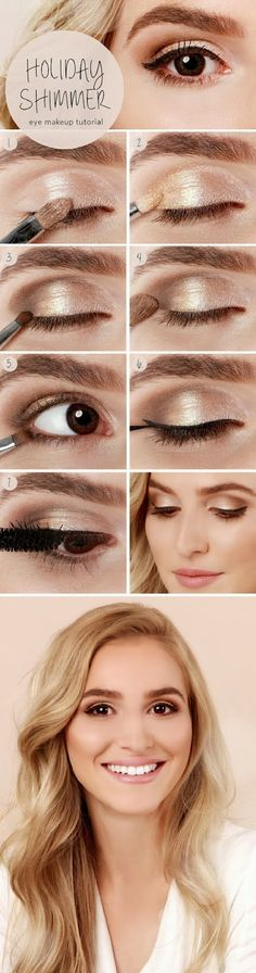 You basically can never go wrong with gold shadow....