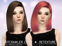 Nightcrawler Crow Hair Retexture at Aveira Sims 4 via Sims 4 Updates The Sims, Sims 4 Cas, Sims 1, Sims 4 Hair Male, Sims Hair, Free Sims 4, Mod Hair, Sims 4 Toddler, Female Superhero