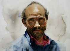 watercolor portraits | Watercolor Portrait Paintings by Chinese Artist Guan Weixing