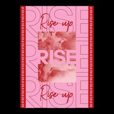 Rise Up   Poster Design   15.11.2018   I'm in love with this colour combo at the moment so thought I would use it in my next piece. What's your thoughts? Type Posters, Graphic Design Posters, Graphic Design Typography, Graphic Design Illustration, Poster Designs, Typography Layout, Typography Poster, Poster Creator, Fashion Typography