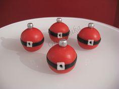 Santa's Belly Christmas Cupcake Balls