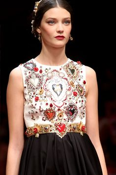 Diana Moldovan for Dolce & Gabbana Spring 2015 Ready-to-Wear