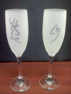 Browning Deer Bride and Groom Sandblast by VinylDecalsandGlass, $14.99 for Ashley Werts