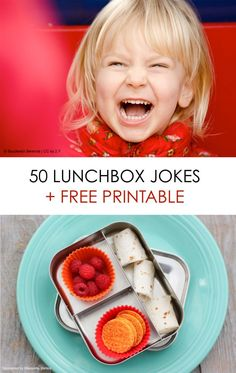 Free printable lunchbox jokes for kids, plus healthy lunch ideas for back-to-school. Great resource for parents!