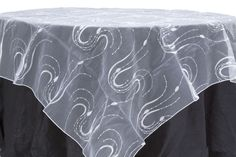 "Embroidery Organza w/Sequin 90"" Overlay - White 