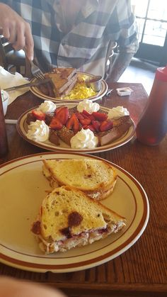 Lulu's on Beverly in Los Angeles. With the real Carter Manley sitting across from me. July 2015. No matter what, I always get their turkey cranberry melt. I also had French toast that day :) since I'm so far away I'm going to have to recreate this sandwich.