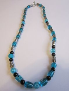 Turquoise Resin/Turquoise and Black Glass by BeadazzlingButterfly, $24.00