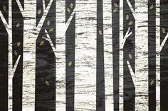 Graphic Birch Forest