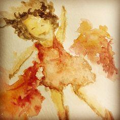 Borrifa gua e joga tinta Quick drawing Water and watercolor dwgdaily sketch