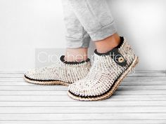 Crochet pattern-slippers with rope solessoles by magic4kids