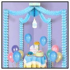 Baby Boy Shower Party Canopy Gift Table Accessory Festive Decoration - http://www.babydecorations.net/baby-boy-shower-party-canopy-gift-table-accessory-festive-decoration/