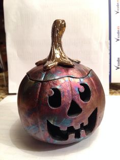 Halloween pinch pot pumpkin   Rakued