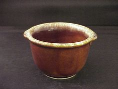 "Cream Drip Small Ramekin 4"" Bowl"