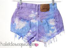 Tie dye old jean shorts!