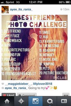 Best friend photo challenge