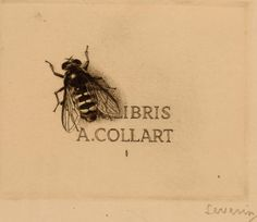 Ex libris for A. Collart by Severin (?)
