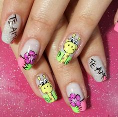 The 70 Pretty Spring Floral Nail Designs are so perfect for Hope they can inspire you and read the article to get the gallery. Orange Nail Designs, Pretty Nail Designs, Nail Designs Spring, Nail Art Designs, Teen Nail Art, Teen Nails, Nails For Kids, Cute Spring Nails, Summer Nails