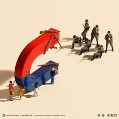 Tatsuya Tanaka - miniature calendar - everyday a new photo of a mini diorama
