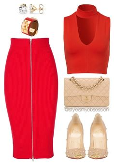 """""""Girls Night Out"""" by dnicoleg ❤ liked on Polyvore featuring T By Alexander Wang, Christian Louboutin, Hermès, women's clothing, women's fashion, women, female, woman, misses and juniors"""