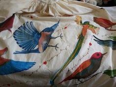 Aves Pintura textil