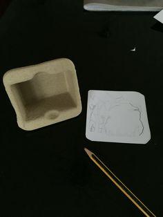 Scatola riciclata preparazione sfondo