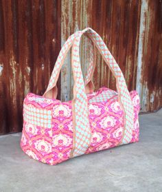 Large Duffle Weekend CarryOn Overnight Bag by alinebylaura on Etsy, $70.00