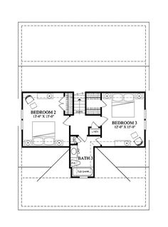 Country Style House Plan - 3 Beds 2.50 Baths 1738 Sq/Ft Plan #137-262 Floor Plan - Upper Floor Plan - Houseplans.com