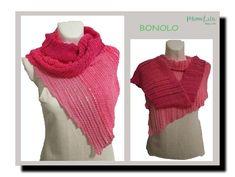 Veröffentlichung 2018-01-07  PDF-Häkelanleitung  BONOLO ein asymmetrisches Tuch, Schal