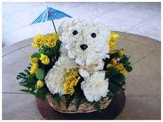 nice Puppy Flower Arrangement Ideas