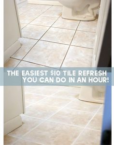 How To Make your Grout Look New in an Afternoon for $10 - Chris Loves Julia