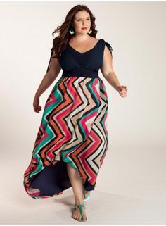 Trendy dresses Spring / Summer for plus size ladies: 40 photos ...