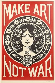 Shepard Fairey (né en 1970) - Make Art Not War - 2016 - Sérigraphie sur papier [...], Vente pas courante à FauveParis |