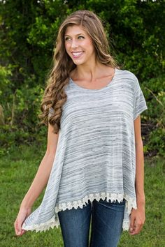 Fairest of Them All Top - Grey - New Arrivals