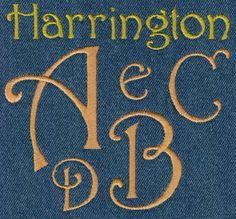 601 Harrington Satin Font - Jolson's Designs