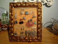earrings organizer Cyns Corner Pinterest Organizers Jewelry