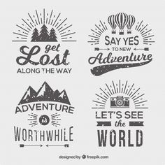 More than a million free vectors, PSD, photos and free icons. Exclusive freebies and all graphic resources that you need for your projects Logo Inspiration, Badge, Kids Background, Background Designs, Vintage Stil, Vintage Logos, Retro Logos, Vintage Typography, Travel Essentials For Women