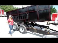 Dump Trailer 7'x14' Hydraulic Roofing Trailer 4' Sides 7000lbs Axles Review - http://sleequipment.com/news/dump-trailer-7x14-hydraulic-roofing-trailer-4-sides-7000lbs-axles-review/