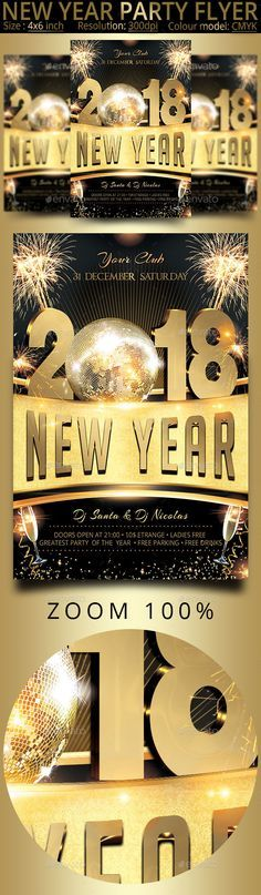 New Year  Party Flyer  Flyers Print Templates  Event Flyer