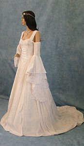 Handfasting medieval wedding dress LOTR Renaissance fantasy gown custom made
