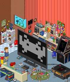 Pixel Art Room