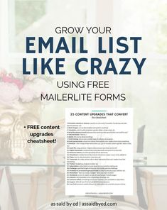 grow email list, email list, Mailerlite, content upgrades, how to grow email list, freebies, autopilot