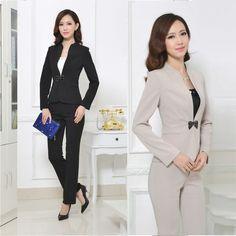 Trajes Sastre Con Pantalon Modernos 3 Blazer Designs Office Wear Women Suits For Women