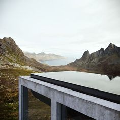 Awesome heated infinity pool on top of the off-grid house