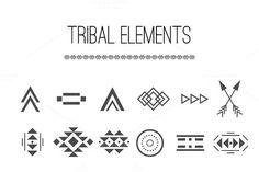 18 Tribal elements + 6 Brushes by Irina Danilyuk on @creativemarket Tribal Logo, Tribal Symbols, Mayan Symbols, Viking Symbols, Ancient Symbols, Tribal Art, Egyptian Symbols, Viking Runes, Tribal Tattoos