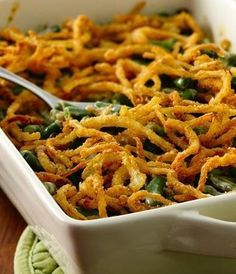 Make everyone's favorite Thanksgiving side gluten-free with this easy spin on green bean casserole. Use Bisquick Gluten Free mix to make the fried onions at home, and the rest is just a matter of assembling and baking. If you're in a hurry, skip the onions and crush up some gluten-free onion-flavored potato chips instead!