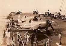 usd+sicily+cve+118 | ... vmf 214 black sheep a bord du porte avions uss sicily cve 118 en 1950